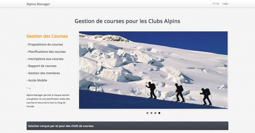 Alpine Manager - Management Solution for Swiss Alpine Club
